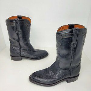 Lucchese 2000 Black Burnished Maddog Leather Boots
